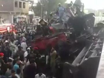 Accidente de trenes en Pakistán