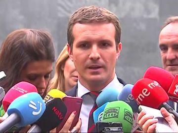 Casado le pide a Sánchez que no engañe si ha decidido apoyarse en los independentistas