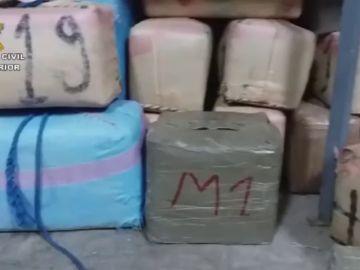 Tres detenidos al intentar introducir 720 kilos de hachís