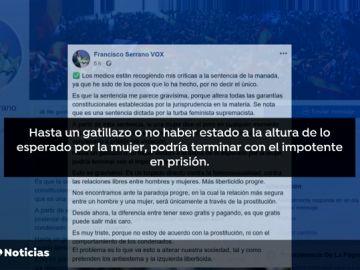 Vox desautoriza a Serrano sobre sus críticas a la sentencia contra 'La Manada'