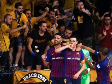 Sergio Lozano celebra un gol