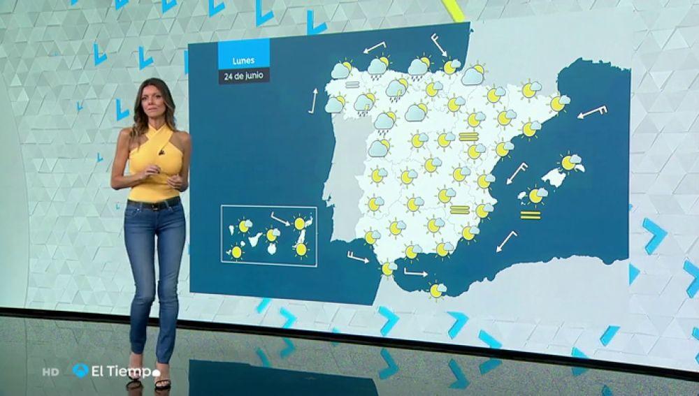 El lunes, precipitaciones fuertes en Asturias y norte de León