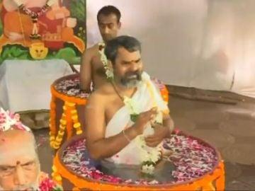 Ritual hindú contra la sequía.