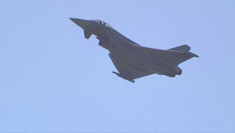 Dos aviones 'eurofighter' chocan en el aire en Alemania