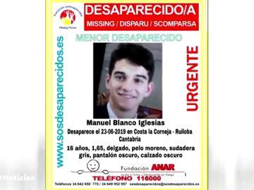 Buscan a un joven de 16 años desaparecido en Cantabria