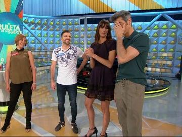 Jorge Fernández, sorprendido por la suerte de un concursante