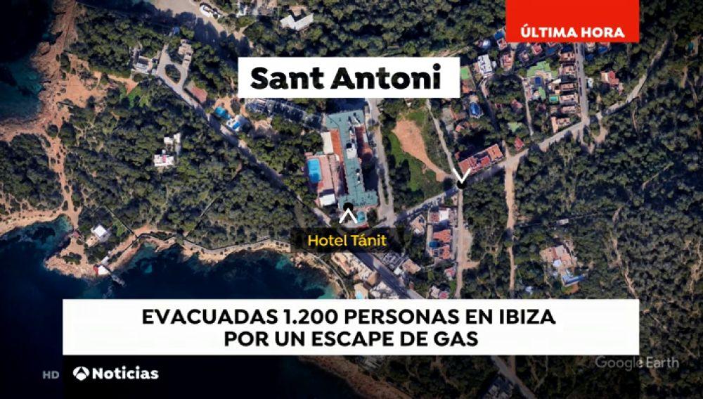 Más de 1.000 personas evacuadas por un escape de gas en Ibiza
