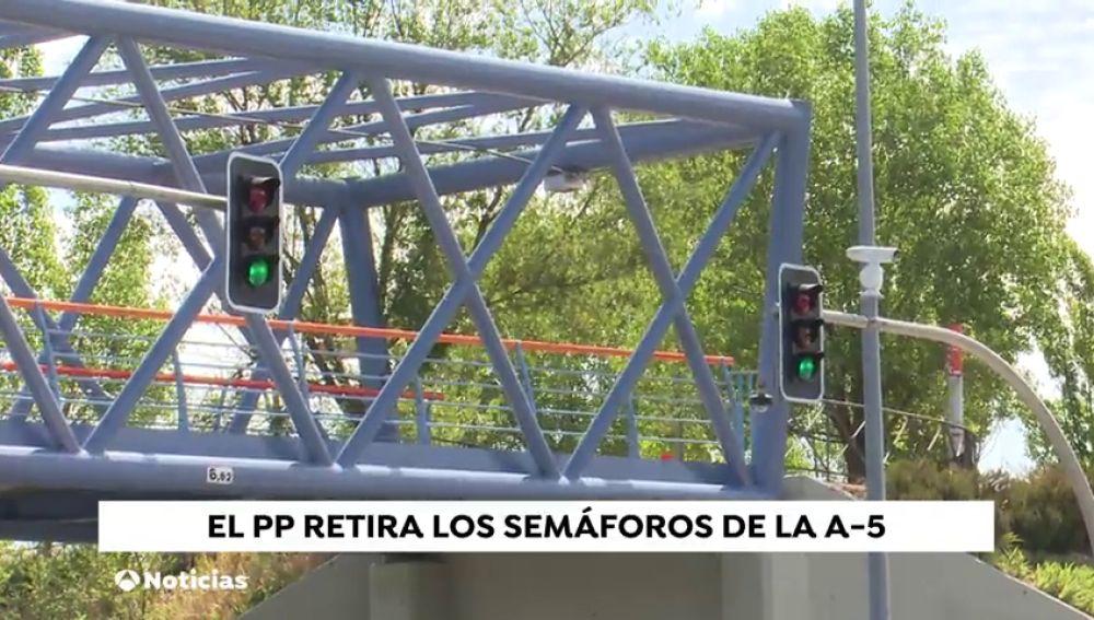 Almeida quita los semáforos de Carmena en entrada por la A-5