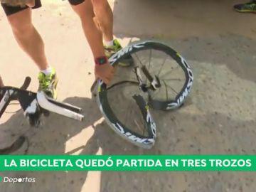 """Así quedó la bici del campeón cadete de ciclocross: """"El 23 de junio es su nuevo cumpleaños, ha vuelto a nacer"""""""