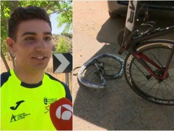 Brutal accidente del campeón cadete de España de ciclocross
