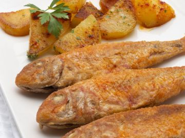 Receta de salmonetes con patatas