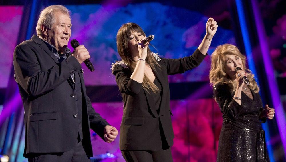 Vanesa Martín canta 'De tus ojos' con Helena Bianco y Juan Mena en la Gran Final de 'La Voz Senior'