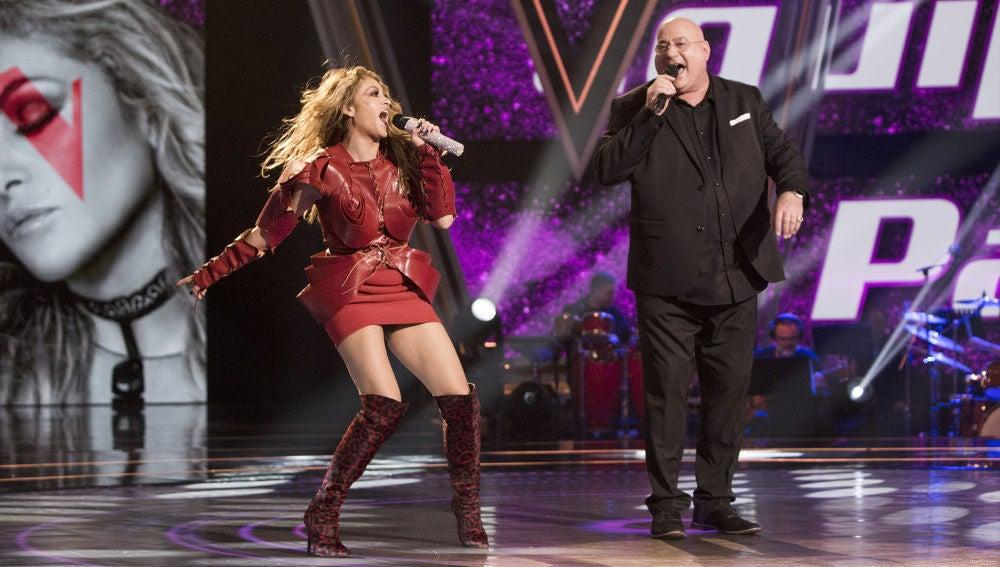 Paulina Rubio y Xavi Garriga cantan 'Lo haré por ti' en la Final de 'La Voz Senior'