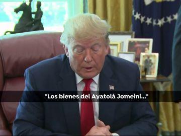 Trump confunde al actual líder de Irán con Jomeini, muerto en 1989
