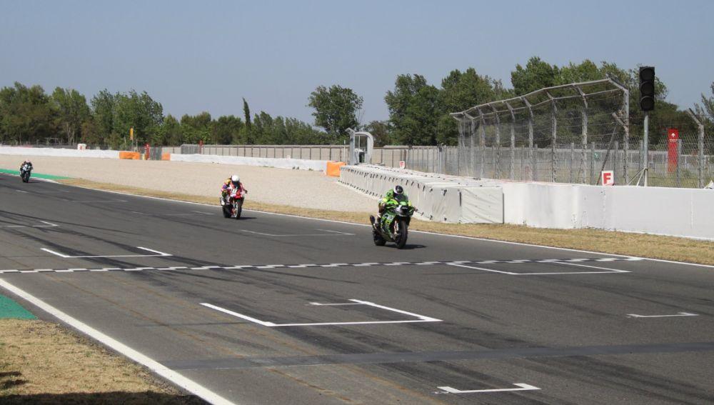 La recta de meta del circuito de Catalunya