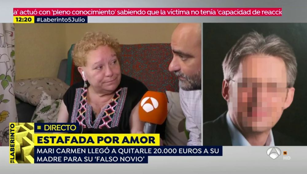 """Mari Carmen perdió 80.000 euros por una estafa amorosa virtual: """"Lo peor de todo es que le cogí 20.000 euros a mi madre"""""""