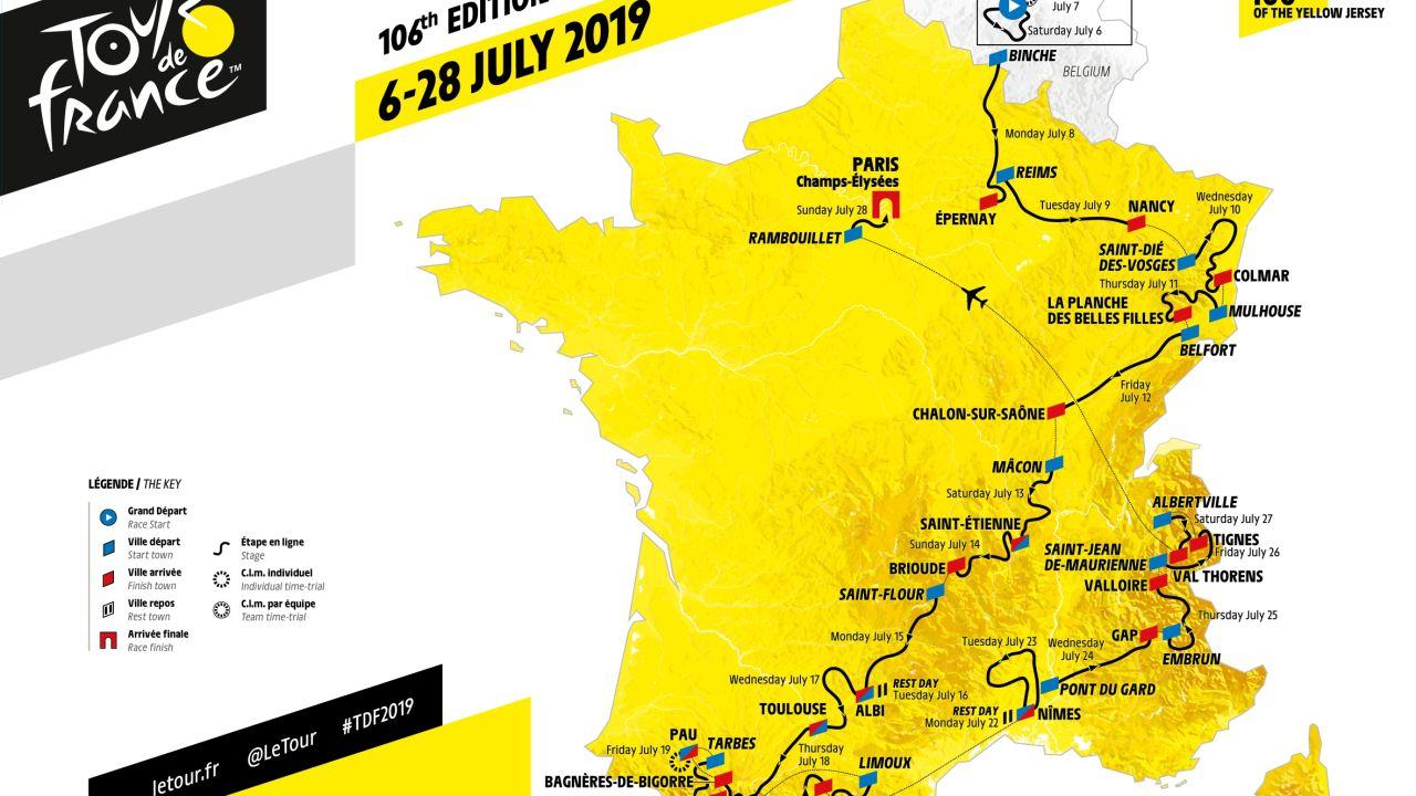 Tour De Francia 2019: Fechas, Etapas, Horario Y Recorrido