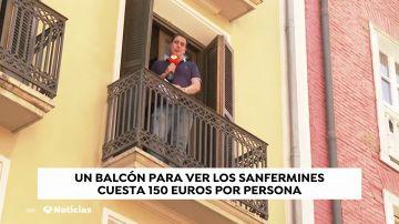 Los balcones, lo más cotizado en Pamplona durante las fiestas de San Fermín 2019