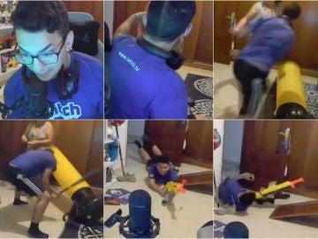Un famoso youtuber pierde los nervios y apunto está de agredir a su madre