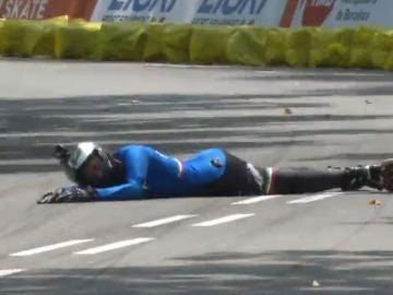 Una de las patinadoras tras el duro accidente