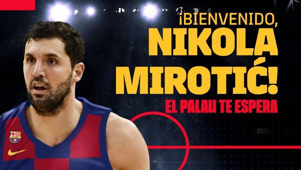 Nikola Mirotic, con la camiseta del Barcelona