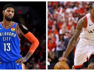 Paul Geroge y Kawhi Leonard, los nuevos fichajes de Los Clippers