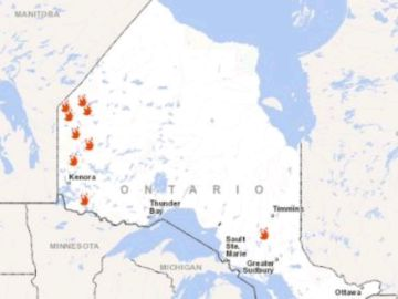 Más de 20 incendios forestales afectan a varias zonas de Canadá