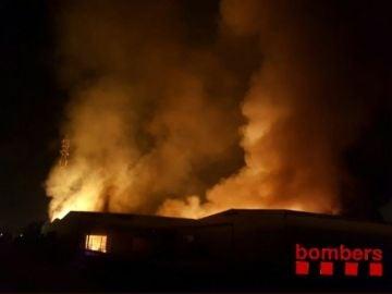 Incendio en la empresa química MIASA, en Tarragona