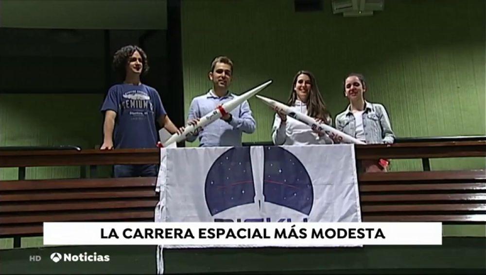Un grupo de estudiantes de Bilbao quiere ser el primero de universitarios en lanzar un cohete al espacio