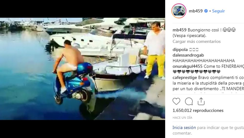 El vídeo que Balotelli compartió en Instagram