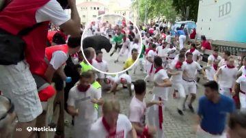 REEMPLAZO | Primer encierro de San Fermín: encierro complicado con tres heridos por asta de toro