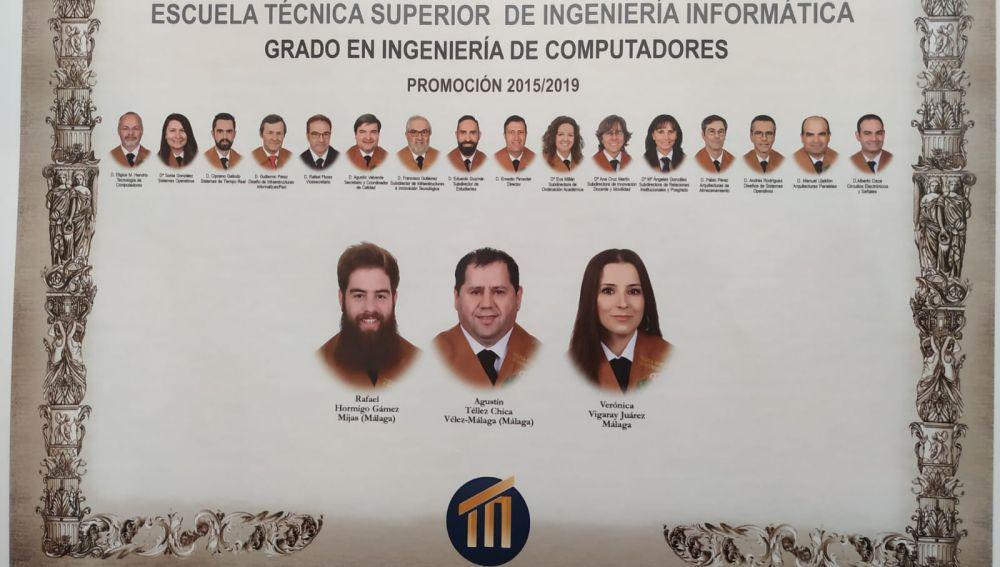 Orla de graduación de la Universidad de Málaga