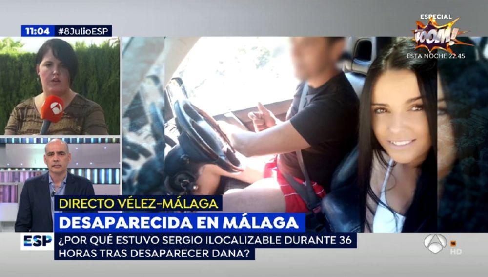 Novio de la desaparecida en Arenas.