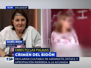 La madre de la víctima del 'crimen del bidón'