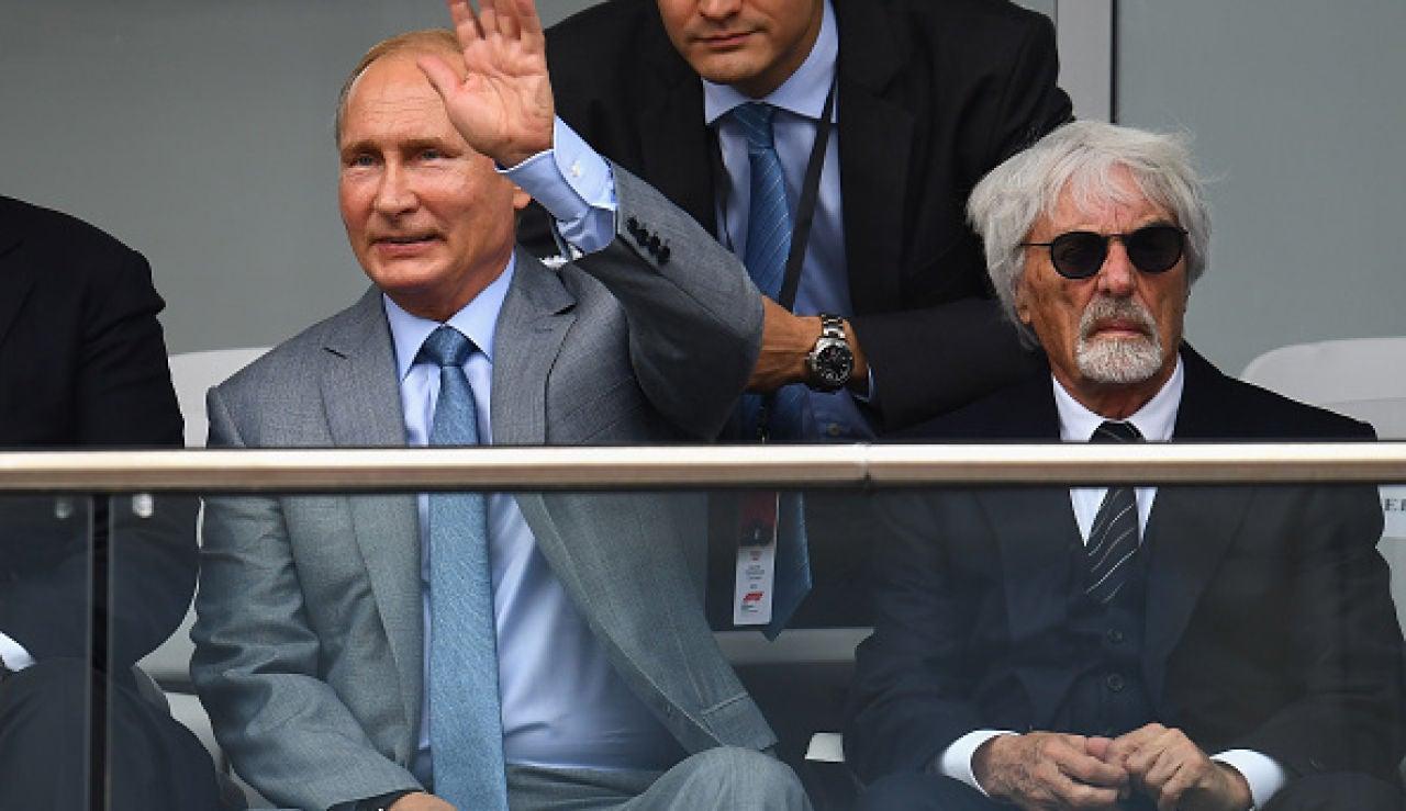 """Berni Ecclestone: """"Si alguien tuviera una ametralladora y estuviera preparado para disparar a Putin, me pondría delante de él"""""""