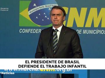 """Bolsonaro rebate críticas tras defender el trabajo infantil: """"No dificulta la vida de nadie"""""""