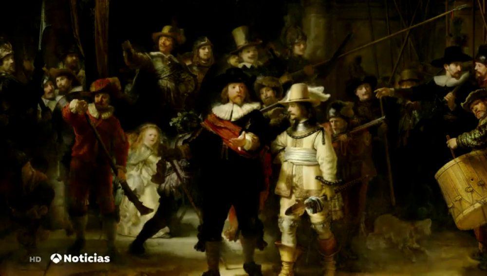 """Comienza la restauración, en público, de """"La Ronda de Noche"""", de Rembrandt"""
