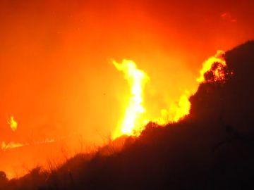 Ceuta pide medios aéreos para intentar controlar el incendio forestal