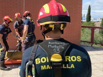 Imágenes del cuerpo de bomberos de Marbella