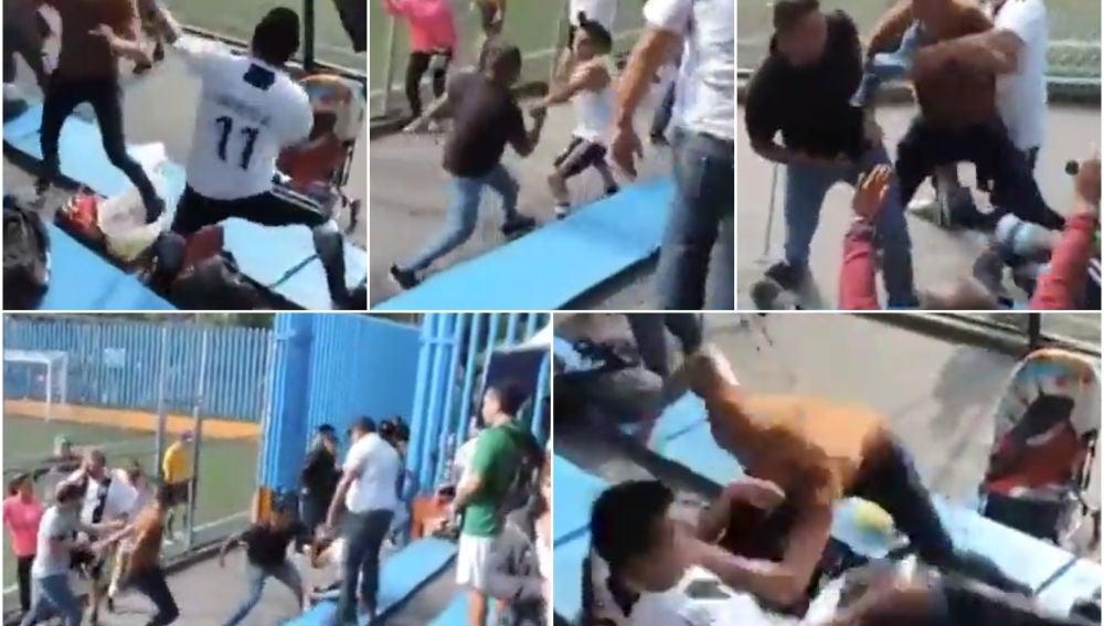Lamentable pelea en la grada durante un partido de niños