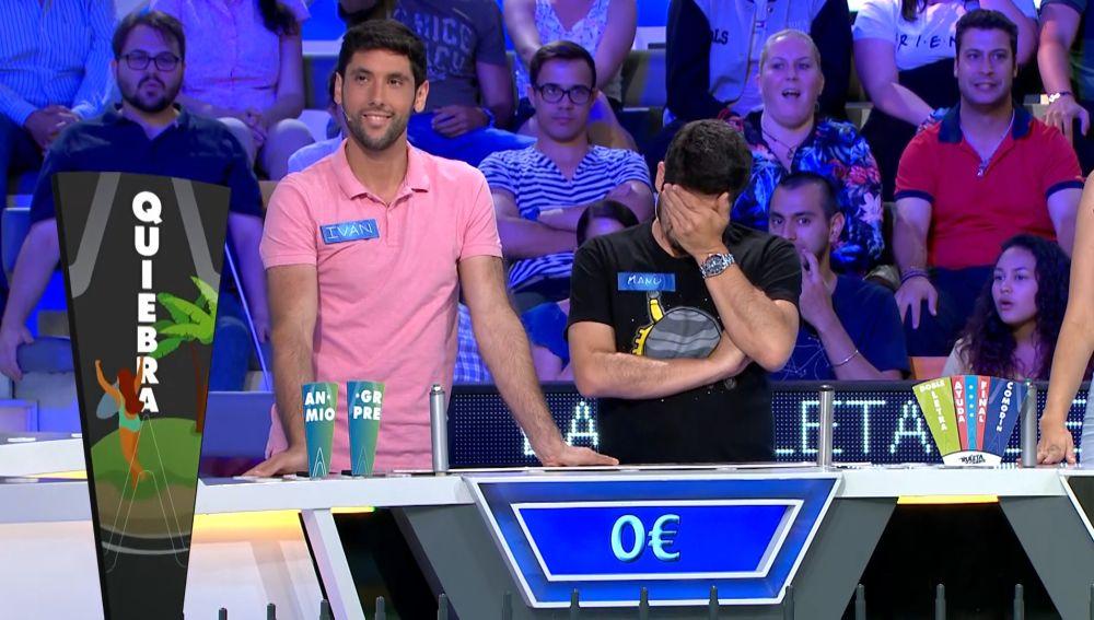 Manu de 'Los Lobos' e Iván pierden todo el dinero acumulado por no saber dos letras.