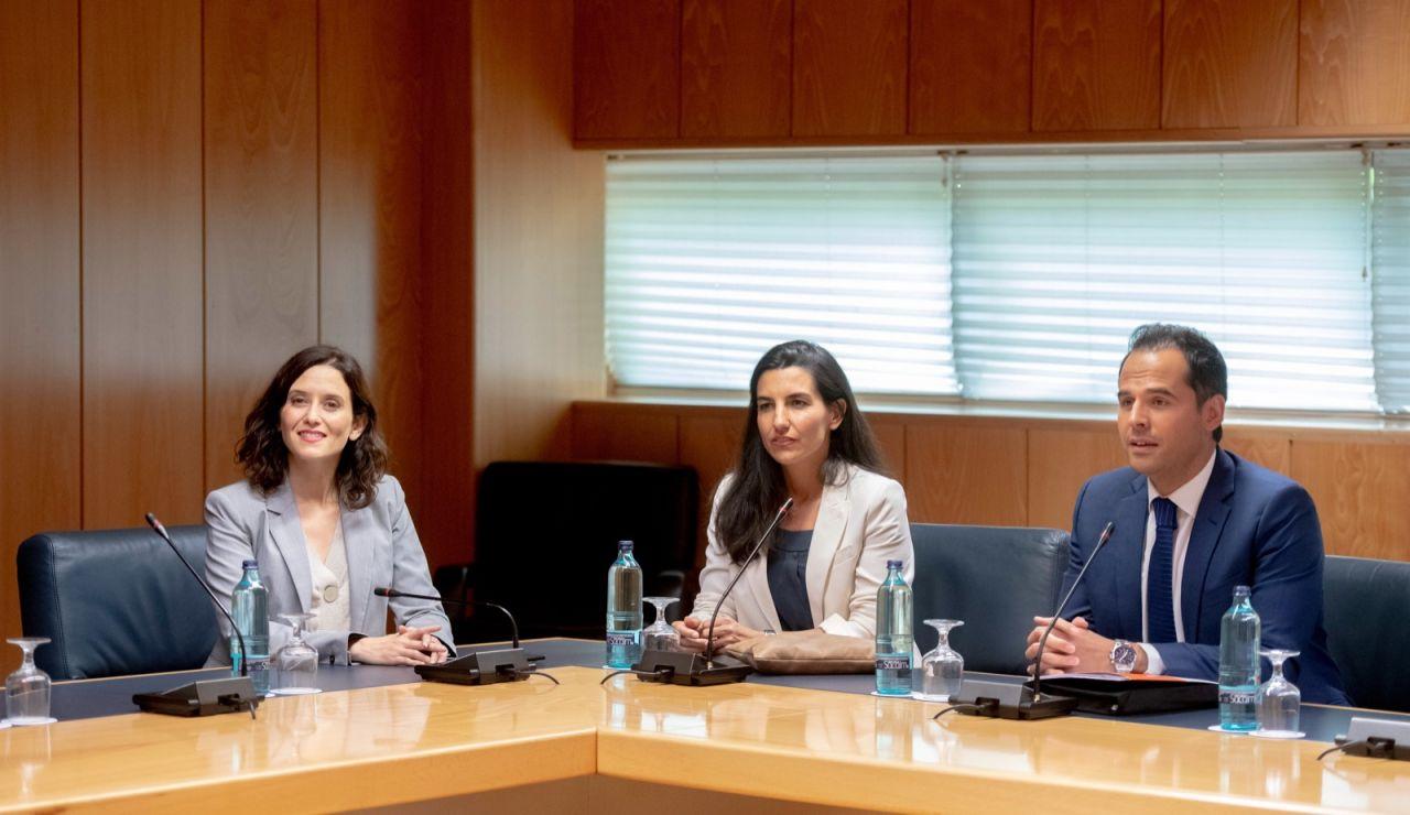 Díaz Ayuso, Rocío Monasterio e Ignacio Aguado reunidos
