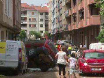 Los vecinos de Tafalla intentan recuperar sus pertenencias