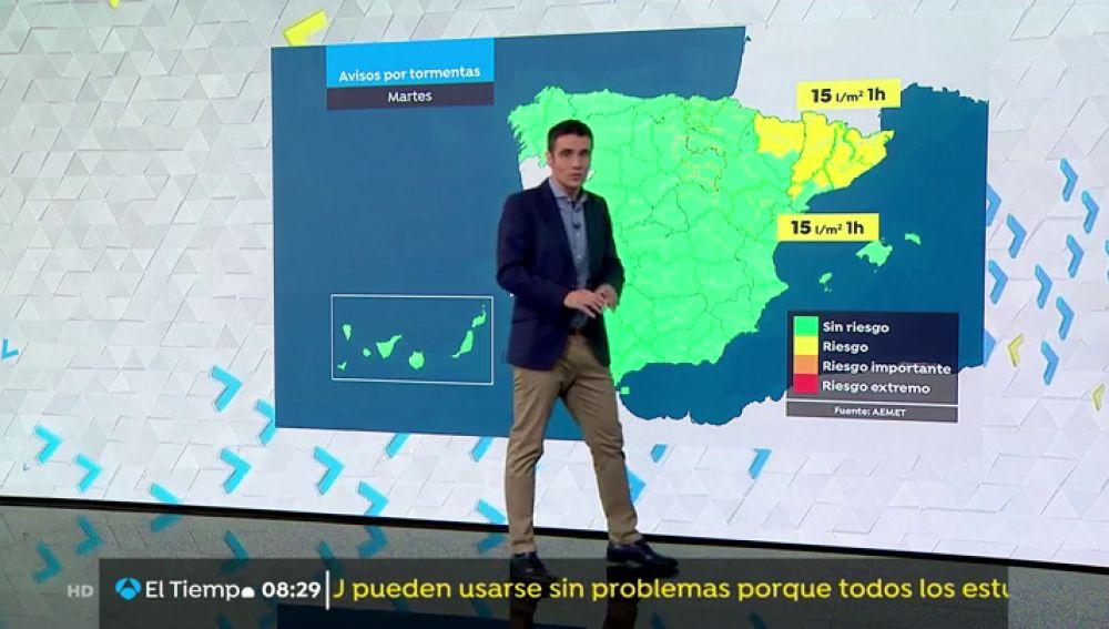 Perdurarán los avisos por tormentas y chubascos en Aragón y Cataluña