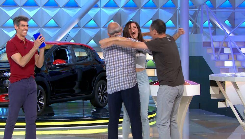 La increíble 'gran final' de Daida en 'La ruleta de la suerte' con 'Los Lobos'