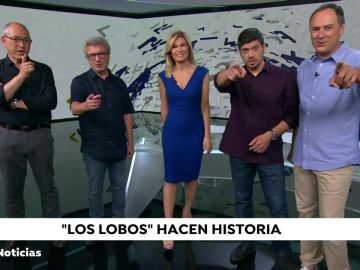 Sandra Golpe con Los Lobos en Antena 3 Noticias 1