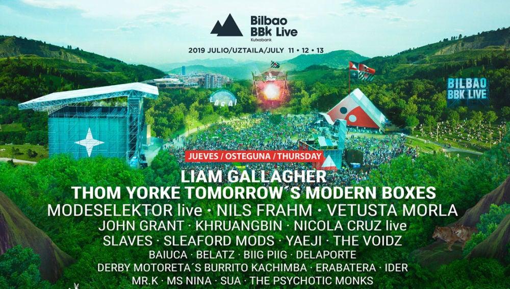 Cartel del festival de música BBK LIVE