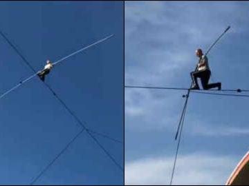 Récord superado: Nick Wallenda recorre 549m sobre la cuerda floja, su próximo reto... caminar sobre un volcán activo