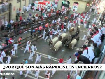 Cuarto encierro de San Fermín: toros demasiado rápidos y muy protegidos