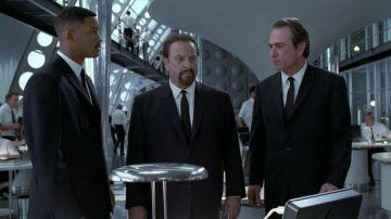 Rip Torn, Will Smith y Tommy Lee Jones en 'Men in Black'